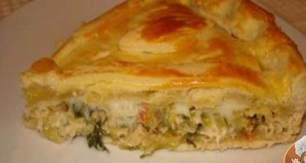 Receita de Torta de Frango Light - Receita de Empanada de Sardinha