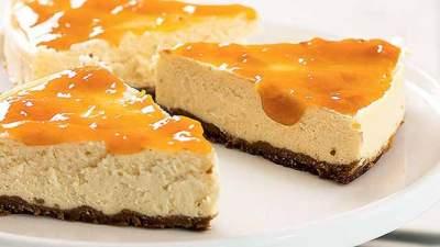 Cheesecake Diet com Calda de Damasco - Cheesecake Diet com Calda de Damasco