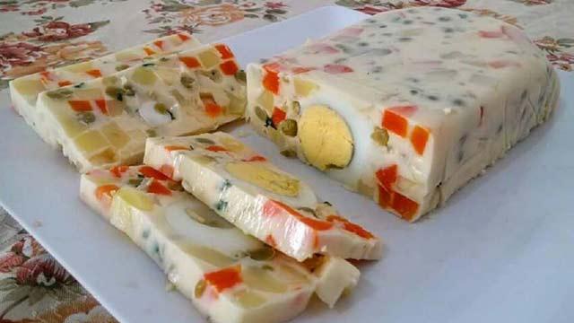 Maionese com Legumes de Forma - Salada de Soja com Gengibre e Cenoura