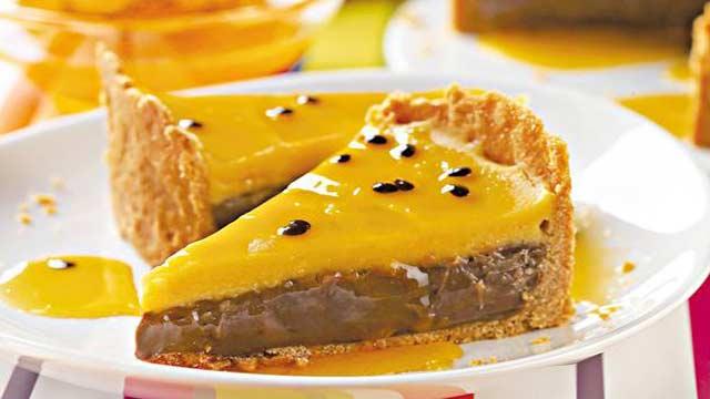 Torta de Brigadeiro com Maracujá - Como fazer Torta de Limão