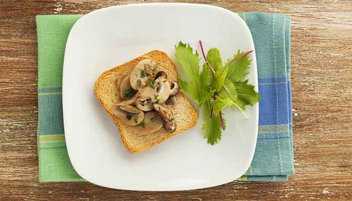 Como fazer Crostini de Cogumelos
