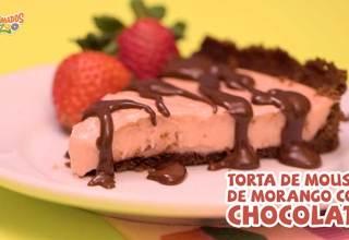 Como fazer Torta Mousse de Morango com Chocolate Animados Zoo