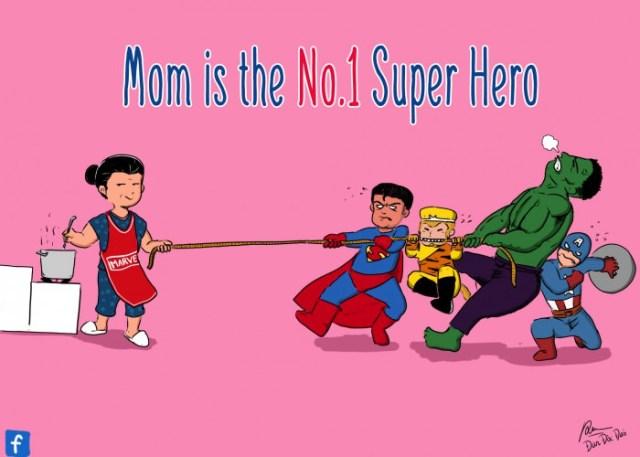 Lições de culinária - Mãe é o super herói número 1