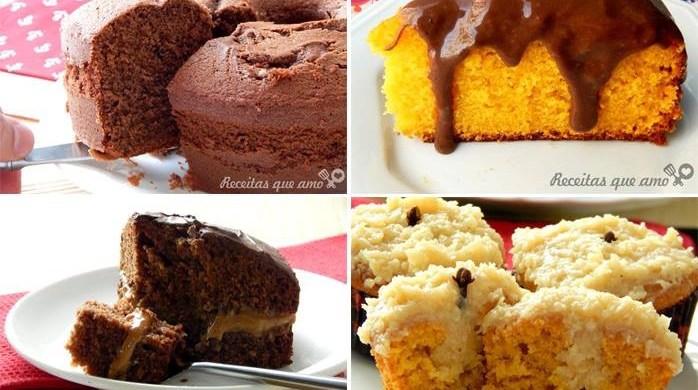 15 receitas de bolo