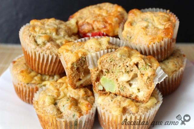 Muffin salgado vegetariano