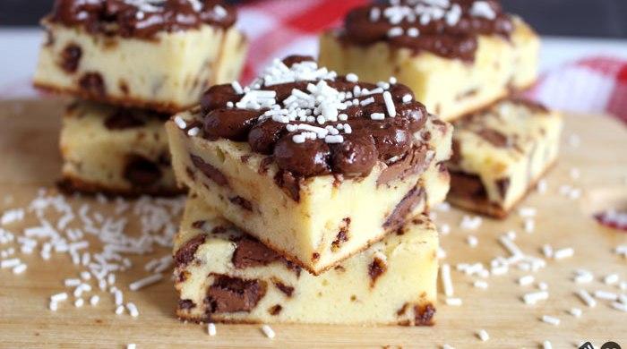 Brownie de leite em pó com chocolate