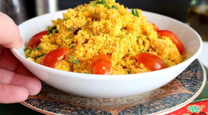 Farofa com vegetais