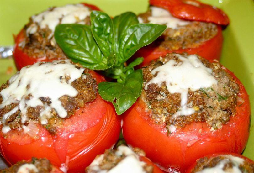 gevulde tomaten met kaas