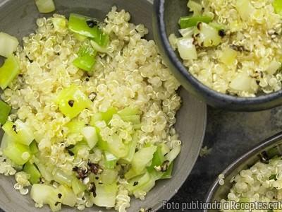 Recepta de cuina de Quinoa amb fonolls i porros