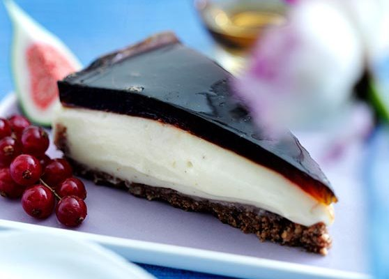 Dessertkaka med kaffegelé