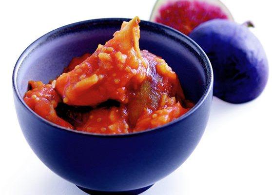 Fikon och tomatchutney