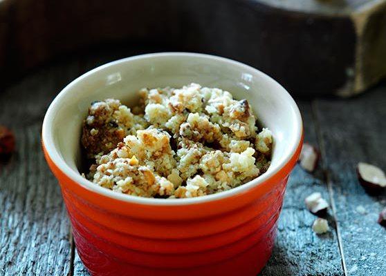 Glutenfri smulpaj med rabarber