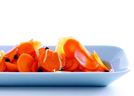 Ingefärsmarinerade morötter
