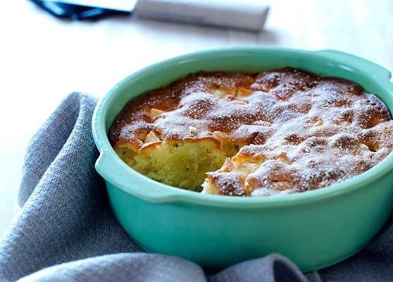 Mandel och äppelkaka