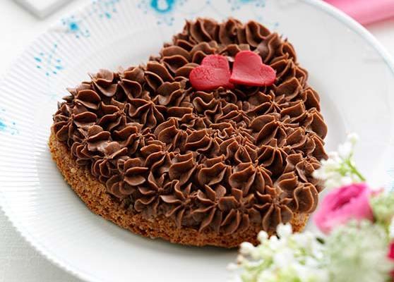 Valentintårta med choklad