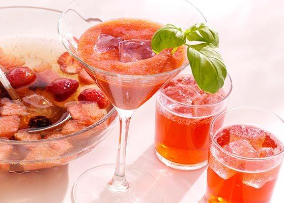 Melon och jordgubbscocktail