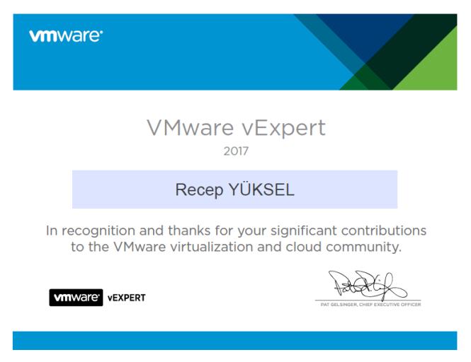 VMware_vExpert_2017_RecepYUKSEL