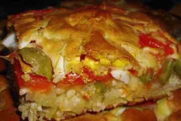 Torta de Pollo y Tomate