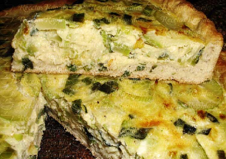 Tarta de Zucchini y Cebollas de Verdeo