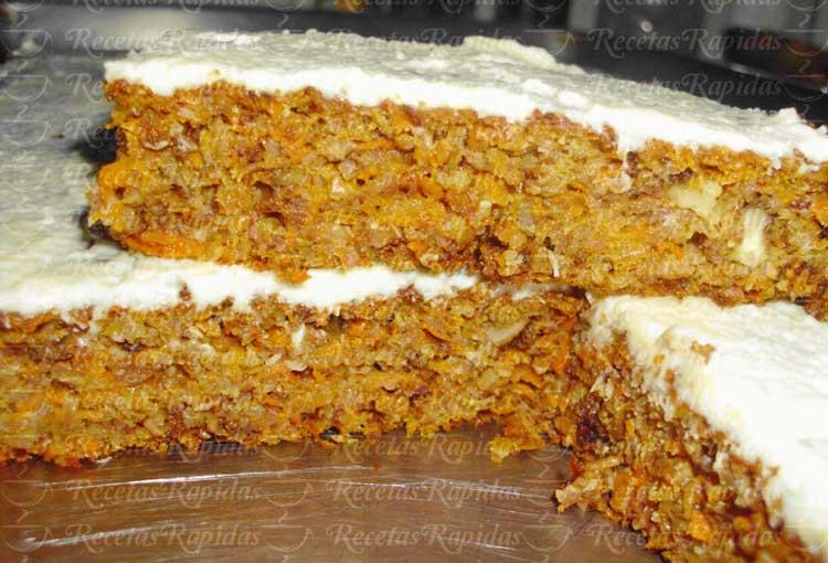 Pastel de Zanahoria con Nueces Carrot Cake saludable