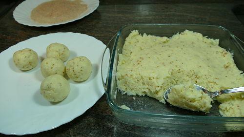 Formado de las bolitas de queso