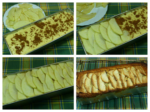 Horneado del plum cake de manzanas