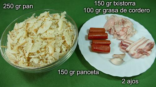 Ingredientes para hacer migas