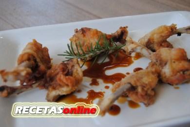 Alitas de pollo preparadas, soja y romero - Recetas de cocina RECETASonline