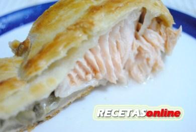 Hojaldre de salmón - Recetas de cocina RECETASonline