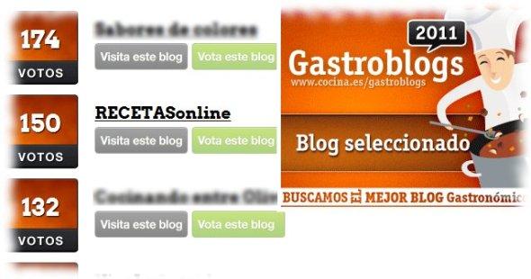 Gastroblogs 2011 - Recetas de cocina RECETASonline