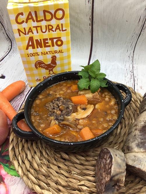 Lentejas en Crock Pot con Caldo Aneto