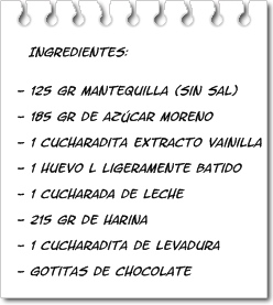 ingredientes galletas caseras