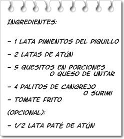 Ingredientes Pimientos Rellenos de Atún