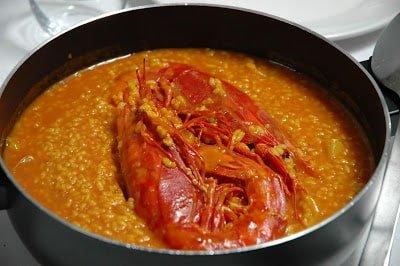 arroz caldoso con carabineros
