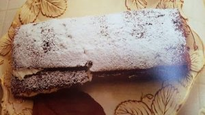 receta casera de rollo de chocolate