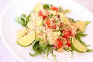 ensalada facil de quinoa y aguacate