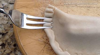 Sellar border con un tenedor