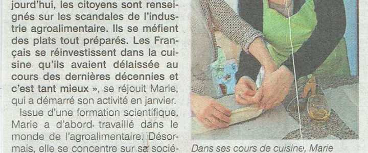 Recette et Tablier dans Ouest France
