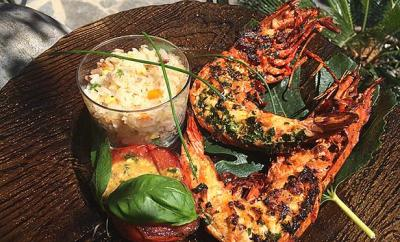 crevettes-plancha-riz