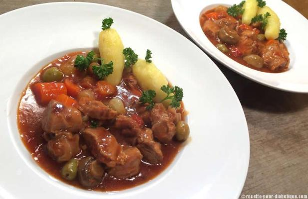 Recette de Veau Marengo aux olives