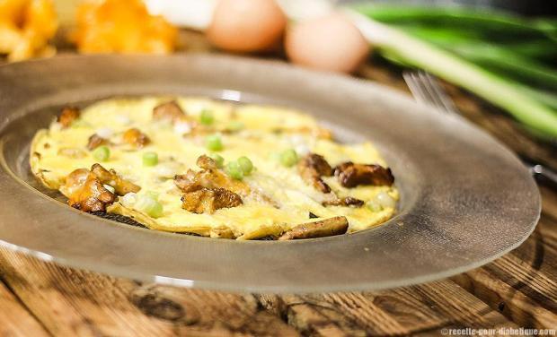 Omelette-aux-girolles