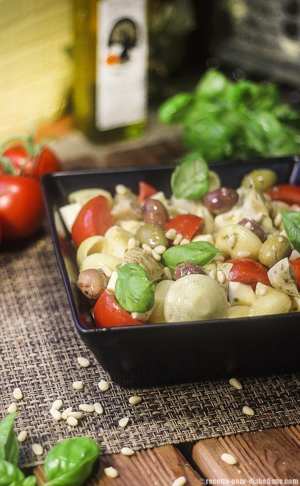 salade-pates-mozzarella-antipasti
