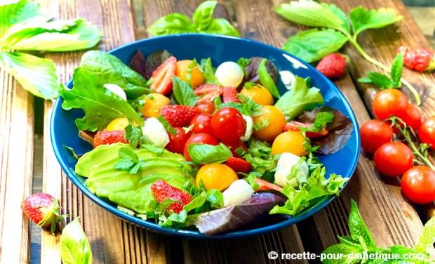 salade sucrée salée fraise melon