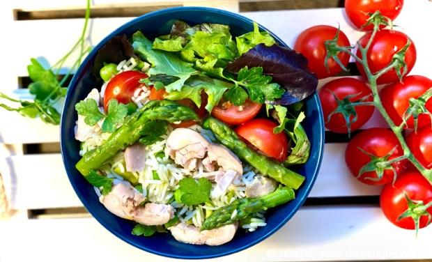 salade poulet riz