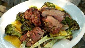 Gigot d'agneau brocolis et pommes de terre avec cookeo
