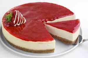 Cheesecake au coulis de fraises thermomix
