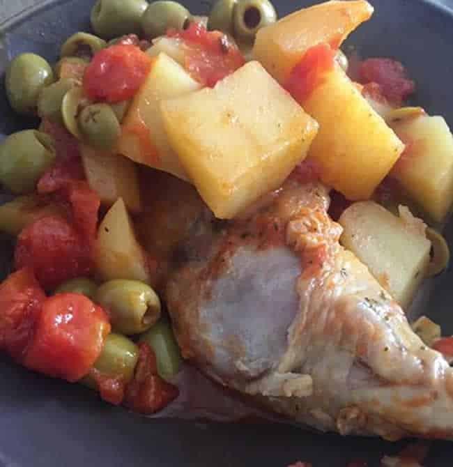 Cuisse de poulet aux olives avec Cookeo