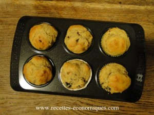 muffins olives gruyère tomates sortie four