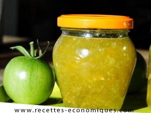 confiture de tomates vertes mixée