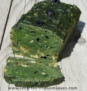 recette du CAKE EPINARDS RAISINS (1)